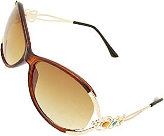 uxcell 's Unisex Eyewear Brown Sports Sunglasses