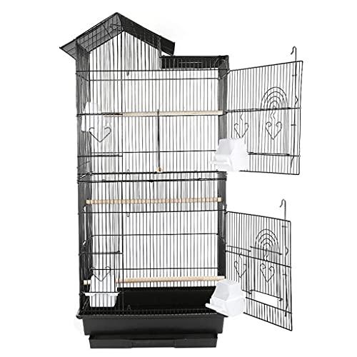 Aiglen Jaula grande para pájaros para loro,periquito,pulpo,casa de pájaros de metal,jaula de cría aumentada,jaula para nido de pájaros,suministros para pájaros y palomas