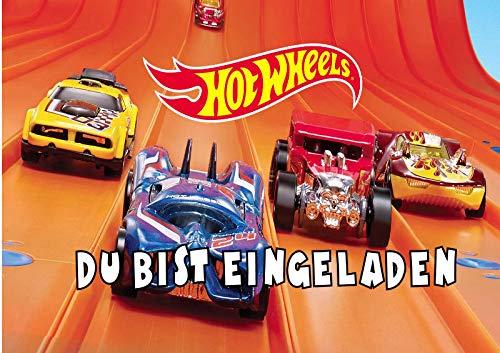 TV-24 Hot Wheels Einladungskarten 6er Set inkl. 6 Umschläge T5