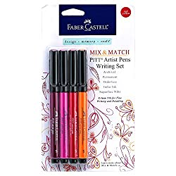 red and orange faber castell markers for coloring
