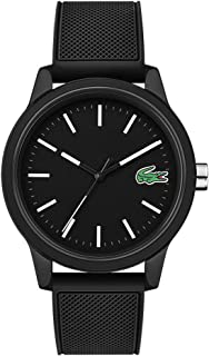 Lacoste Men's TR90 Quartz Watch with Rubber Strap, Black, 20 (Model: 2010986)