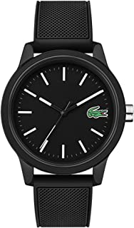 Men's TR90 Quartz Watch with Rubber Strap, Black, 20 (Model: 2010986)