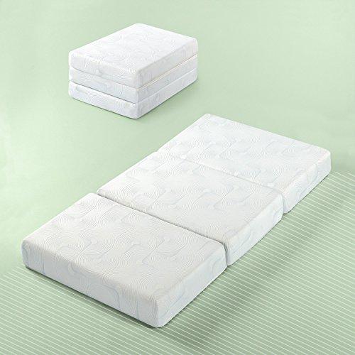 Zinus Gel Memory Foam 5 Inch Tri-Fold Comfort Portable Folding Floor Mat, Single