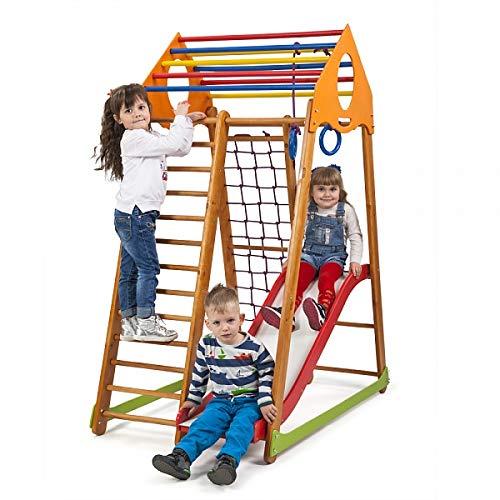 Centro de actividades para niños de Bambinowood-1, escalera sueca