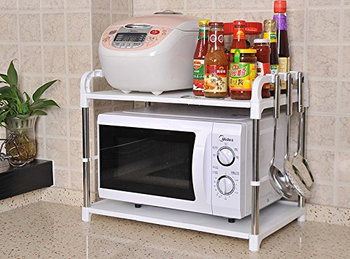 Étagère Peaceip Second Floor Micro-Onde Racks de Cuisine Floor Seasoning Supplies Rack