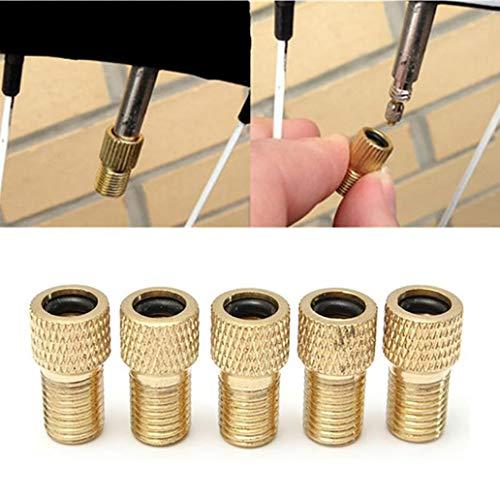 Adaptateurs de valve kangql - 5 pièces - Adaptateurs de valve presta à valve schrader - Embouts pour vélo, pompe à vélo, gonflage de pneu