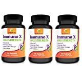 Immuno X Tabletas - Píldoras No Cápsulas Vitamina C, Bisglicinato de Zinc, Vinagre de Si...