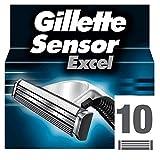 Gillette Sensor Excel Lames de Rasoir pour Homme - 10 recharges