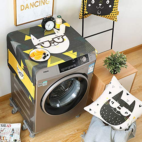 XuBa Cartoon Patroon Afdrukken Stofhoes voor Wasmachine Koelkast
