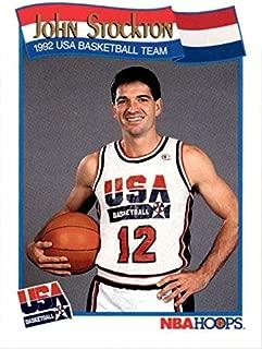 John Stockton Basketball Card (1992 USA Dream Team) 1991 Hoops #584