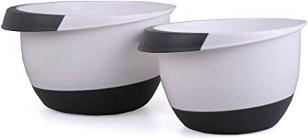 Rührschüssel Set 3,5 & 2,0 Liter mit Stoppboden Schüsseln Schüssel Teigschüssel Kochschüssel