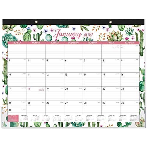 2021 Desk Calendar - 12 Months Large Desk Calendar Desktop 22 x 168 Monthly Desk or Wall Calendar Jan 2021 - Dec 2021 Large Ruled Blocks Perfect for Planning and Organizing for Home or Office