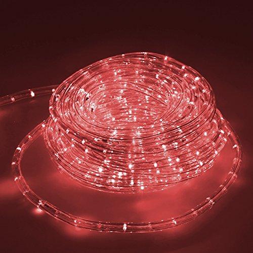 ECD Germany LED Lichtschlauch Lichterschlauch 20 Meter - Rot - 36 LEDs/m - Innen/Aussen - IP44 - Lichterkette Lichtband Licht Leucht Dekoration Schlauch Leiste Streifen Strip