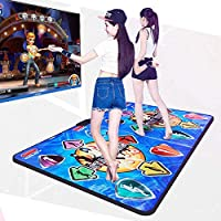 Dance Mat for Kids Adults, High Elasticity And Sensitivity, Non-Slip Wireless Dancer Step Pads With 150 Games and AUX Music, Levels, Plug and Play, Sense Game for PC TV For 2 Person (Battery Include) (C)