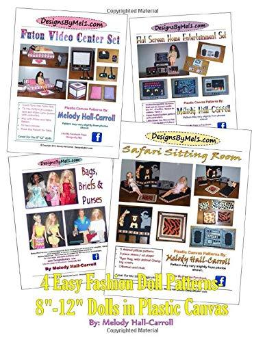 4 Easy Fashion Doll Patterns: 8-12' Dolls In Plastic Canvas (DesignsByMel)