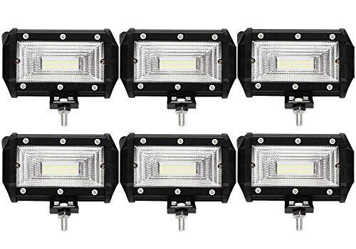 Leetop 6X 72W LED Zusatzscheinwerfer IP67 Wasserdicht Light Bar 12V 24V LED Arbeitsscheinwerfer Offroad Auto LED Scheinwerfer Arbeitslicht