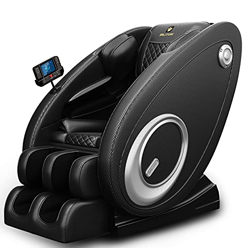 2021 New Massage Chair Recliner with Zero Gravity with Full Body Air Pressure, Speaker and Blue-Tooth Connection, Easy to Use at Home and in The Office (Black)