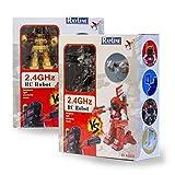 RAYLINE RC Roboter Ferngesteuerter Boxer Robot 8088D Kampfroboter Licht & Sound 2 Stück