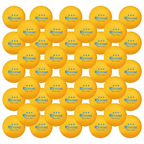 Kevenz 60-Pack de 3 étoiles de Ping Pong Balls Advanced Table Balle de tennis en vrac Outdoor Pi
