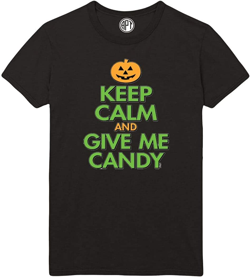 Keep Calm Give Me Candy Printed T-Shirt