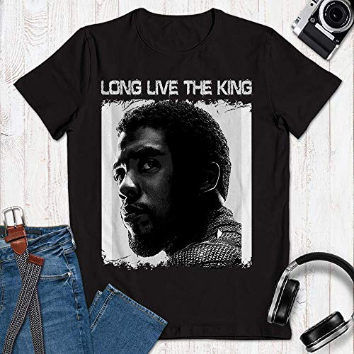 Chadwick Forever Boseman Long Live The King Legendary Respect Black Customized Handmade Unisex T-Shirt | Long Sleeve T-Shirt | Hoodie | Sweater | Tanktop