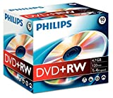 Philips DVD+RW 4.7GB (4x) 10pk Jewel Case