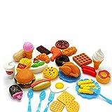 N&F 34 Lebensmittel Set Kinderküche Spielküche Spielzeug Zubehör Kaufladen Backwaren
