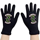 Riverdale Southside Serpents Costumes Winter Gloves Adult Knit Gloves Warm Stretchy Knit Gloves for Men/Women/Teenager