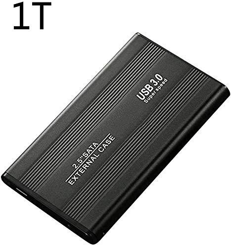 USB Disco Duro Externo, Disco Duro USB 3.0, 2.5inch 500GB 1TB 2TB Externo Alta Velocidad Disco Duro Móvil USB3.0 SATA3.0 Disco - Negro (1tb)
