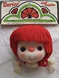 DARICE Craft SET of 1 Vinyl DOLL HEAD 3-1/8' w RED YARN Hair and PAIR of HANDS Each 1' (J. Shin Made in Hong Kong)