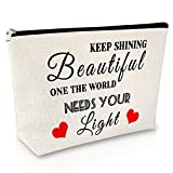 Inspirational Gifts for Women Makeup Bag Thank You Gift Encouragement gift ideas for Girl Cosmetic Bag Birthday Gift for Her Travel Cosmetic Pouch Best Friend Gift