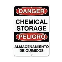アートウォールデコレーションアルミサイン、危険化学品保管エリア警告サイン私有財産のための金属屋外危険サインブリキの肉サインアートプラークキッチンホームバー壁の装飾
