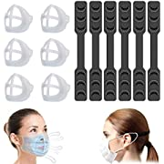Mepsirit 6PCS Face Mask Bracket 3D Face Mask Inner Support Frame& Mask Extender Strap,Lipstick Protection and Comfortable Wearing