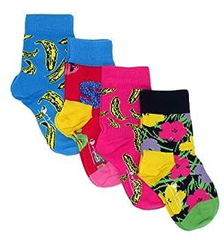 Happy Socks x Andy Warhol Kids Socks Gift Box Set  4 Pairs   Multicolored 12-24 Months