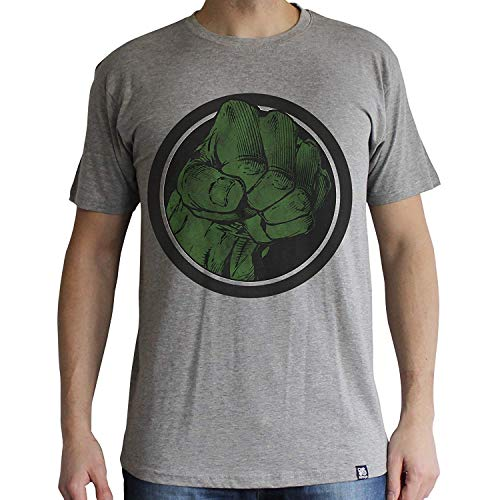 ABYstyle abystyleabytex404-m Marvel Hulk Smash Manga Corta Hombres Camiseta básica (Medio)