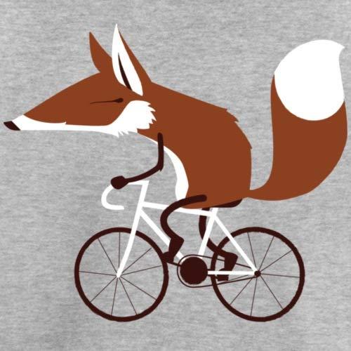 Spreadshirt Fuchs auf Fahrrad Cycling Fox Kinder Premium T-Shirt, 98/104 (2 Jahre), Grau Meliert - 2