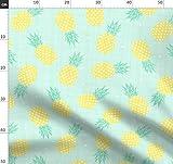 Ananas, Obst, Gelb, Mint, Dreiecke, Struktur, Struktur