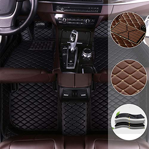 Benutzerdefinierte Auto Fußmatten rutschfeste Fußmatte Leder Benutzerdefinierte Matte vorne und hinten Links Fahrer schwarz