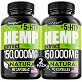 (2 Pack) Premium Hemp Oil Capsules for Discomfort Recovery with Omega 3, 6, 9 - Stress, Anxiety, Immunity Support - Natural Hemp Extract Capsules with Calming & Relaxing Effect - 180 Hemp Pills Total