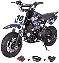 X-Pro 110cc Dirt Bike Pit Bike Youth Dirt Pit Bike 110 Dirt Pitbike with Gloves, Goggle and Handgrip