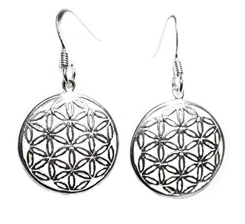 Ohrhänger/Ohrringe - Silber *Blume des Lebens* flower of life - Yoga Esoterik Spiritualität Astrologie Meditation Energie