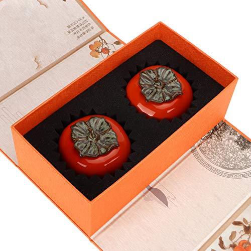 Botes de café con tapas herméticas, 2 botes de té para té suelto, recipiente de cerámica de 3,5 x 8 x 7 cm, recipiente de té suelto, para café, mermelada, nueces, cereales, galletas, té