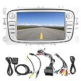 Navegación GPS, sistema de 7 pulgadas, reproductor automático, estéreo para coche, WiFi para Android, reproductor de radio estéreo Bluetooth, compatible con Ford Focus/Mondeo