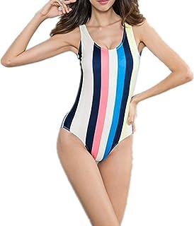AidShunn Donna Stampa Costume da Bagno Intero a V Coppe One Piece