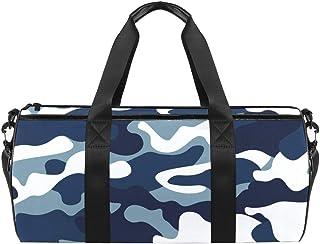 Reisetasche aus Segeltuch mit Camouflage-Muster, Blau / Marineblau