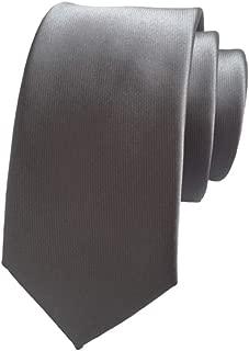 Solid Color Skinny Tie Slim Neckties for Men (2.4'') + Gift Box