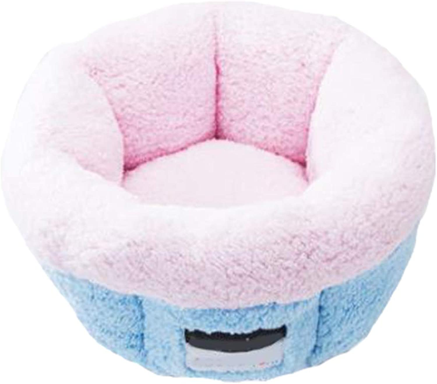 Plush Cat Bed, Warm, Cozy and Durable Cat Bed, Suitable for Large Cats and Kittens(50cm42cm,bluee)