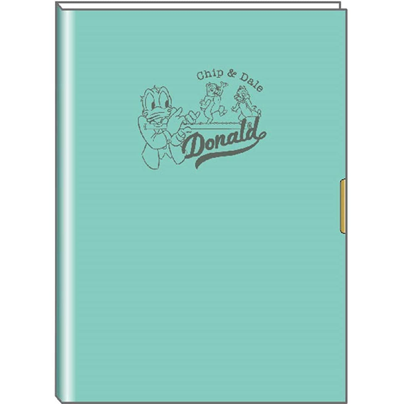 メカニックビン一掃するデルフィーノ ディズニー 19年9月始まり マンスリー手帳 A5サイズ ドナルド&チップ&デール エメラルドグリーン DZ-80540