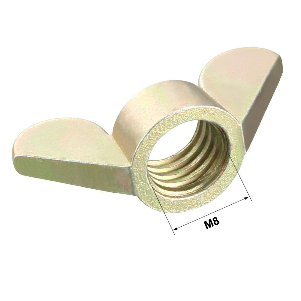 10Pcs//Lot Zinc Plated M4 M5 M6 M8 M10 Wing Nuts Fasteners Parts Butterfly Nut 2 Color Choose M4