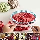 Tricot à tisser avec crochet Aiguille Craft Kit, 4tailles Plastique Ronde tisser papier froissé, Pelote de laine machine à tricoter Chapeau Craft Chaussette Sock Maker, Coloré